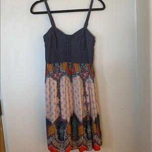 Denim/ multicolor dress